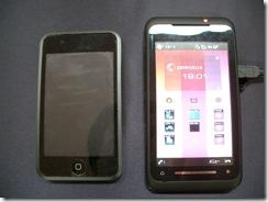 iPod touchとの大きさ比較