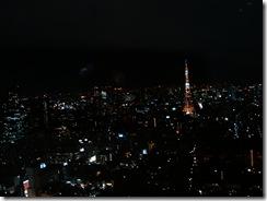 ガラス越しの夜景