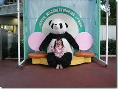パンダと記念撮影