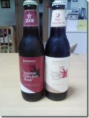 チョコレートビール二種類