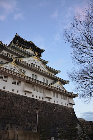 見上げた大阪城