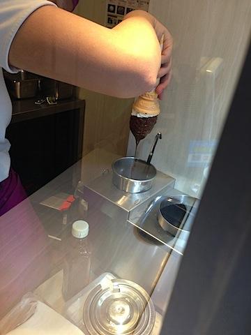 チョコディップコーンの作り方