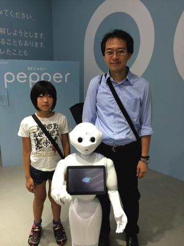 Pepper君と記念撮影